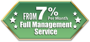 Full property management service only 10% per month